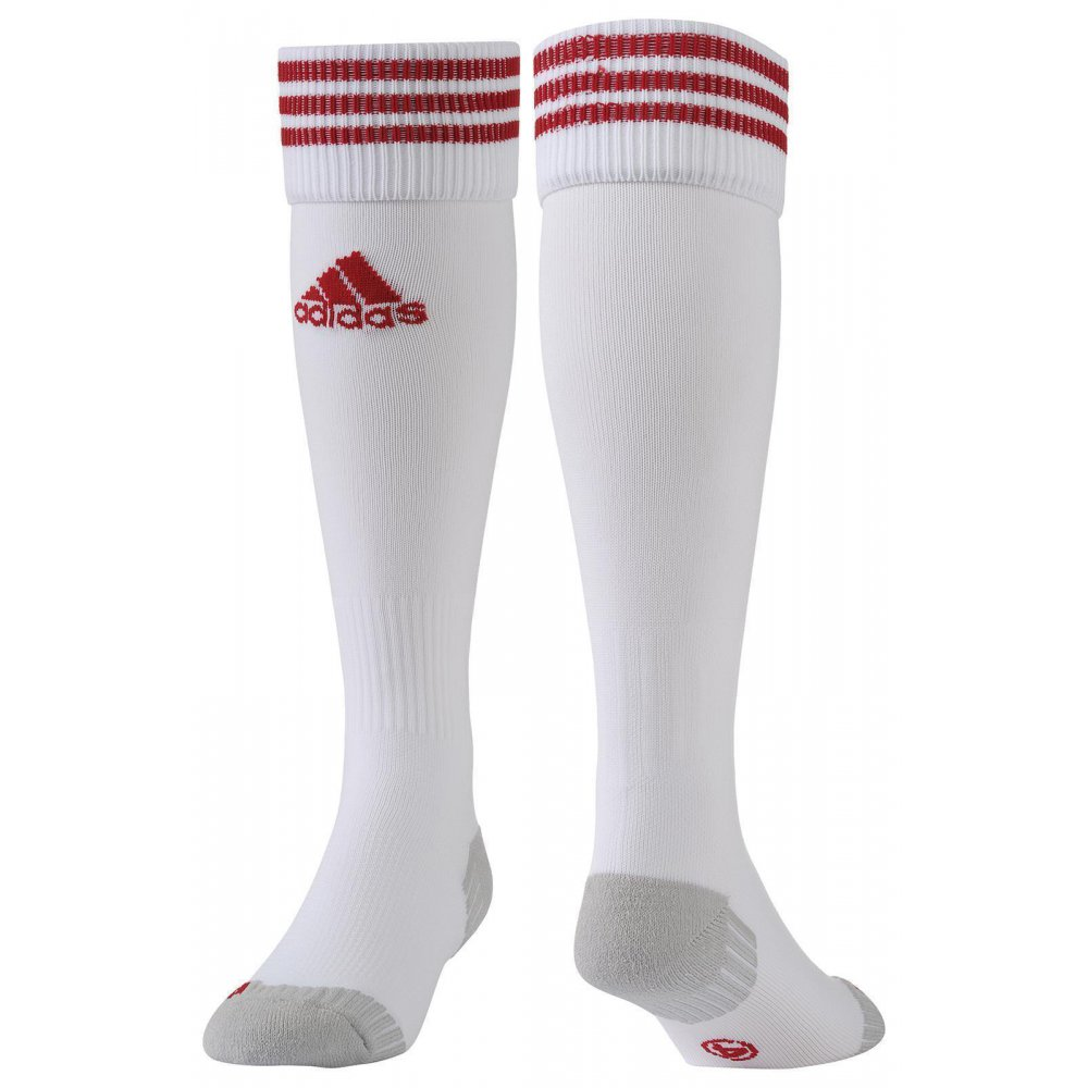 adidas fussball stutzenstrumpf adisock 12 weiss rot 8 50. Black Bedroom Furniture Sets. Home Design Ideas
