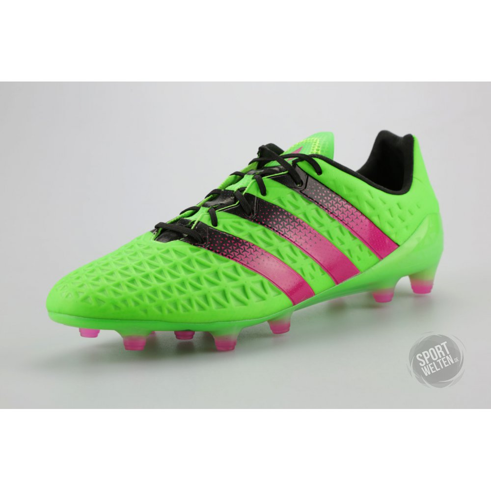 adidas fussballschuhe nocken ace 16 1 fg ag gr n pink. Black Bedroom Furniture Sets. Home Design Ideas