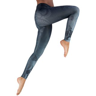 NIYAMA Damen Sport Leggins MAORI MAGIC - Gemustert