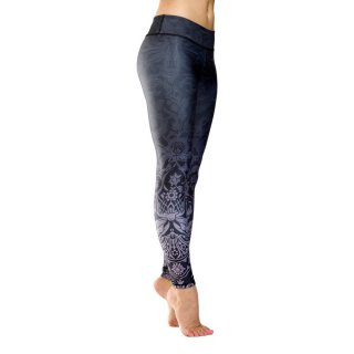 NIYAMA Damen Sport Leggins MIDNIGHT KISS - Gemustert