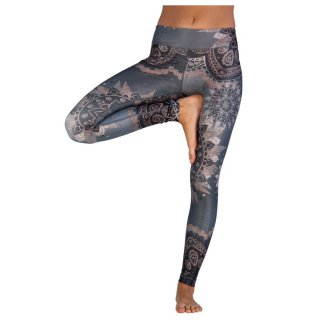 NIYAMA Damen Sport Leggins DANCING BEAUTY - Gemustert