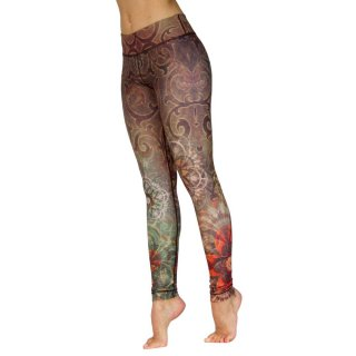 NIYAMA Damen Sport Leggins MOUNTAIN MEADOW - Gemustert