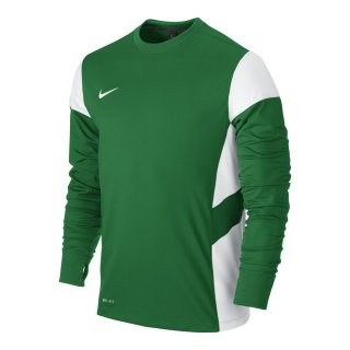 NIKE Trainingspullover MIDLAYER TOP - Grün/Weiss