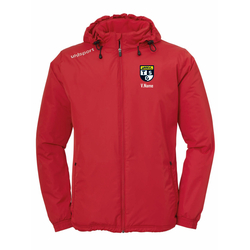 UHLSPORT Coach Jacket ESSENTIAL (inkl. Bedruckung) - Rot