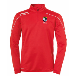 UHLSPORT Zip Top STREAM 22 (inkl. Bedruckung) - Rot M