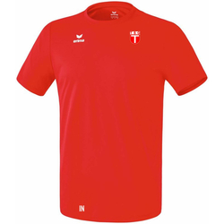 ERIMA FUNKTIONS TEAMSPORT T-Shirt (inkl. Wappen) - Rot 140