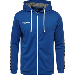 HUMMEL AUTHENTIC Poly Zip Hoodie (inkl. Bedruckung) - Blau