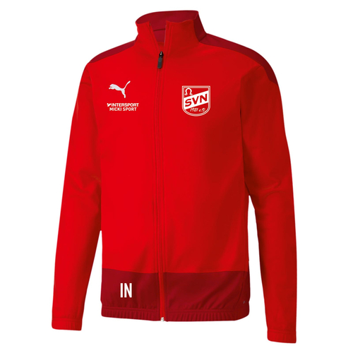 PUMA Sideline Poly Training Jacket TEAMGOAL 23  (inkl. Bedruckung) - Red Chilli Pepper